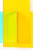 오브젝트 (묘사), 컬러, 색상, 강렬한색채, 아크릴, 투영, 백그라운드, 노랑색 (색상), 노랑배경, 밝은청색 (파랑)