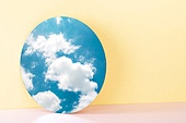 오브젝트 (묘사), 컬러, 색상, 강렬한색채, 아크릴, 투영, 백그라운드, 거울, 하늘, 구름