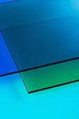 오브젝트 (묘사), 여름, 시원함 (컨셉), 아크릴, 밝은청색 (파랑), 탑앵글, 백그라운드, 파랑 (색상), 파랑배경, 녹색 (색상)