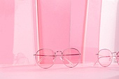 오브젝트 (묘사), 백그라운드, 여름, 자외선, 자외선차단, 아크릴, 색상, 컬러, 선글라스, 패션, 강렬한색채, 안경, 분홍