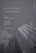 비즈니스, 위기, 레이아웃, 포스터, 백그라운드, 고층빌딩 (회사건물)
