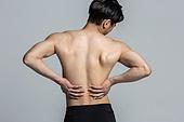 남성, 고통 (컨셉), 허리, 요통 (질병), 근육통 (질병)