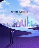 그래픽이미지 (Computer Graphics), 비즈니스, 미래, 도시, 기하학모양 (도형), 우주 (자연현상), 비즈니스맨, 5G