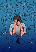 정신건강, 건강한생활 (주제), 정신건강 (주제), 질병 (건강이상), 정신병, 대인기피증, 두려움