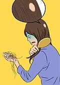 탈모, 탈모 (질병), 질병, 당혹, 머리카락, 여성 (성별), 헤어브러시 (헤어케어)