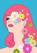 레트로스타일 (컨셉), 뉴트로, 여성 (성별), 패션, 쇼핑 (상업활동), 축하이벤트 (사건), 상업이벤트 (사건), 꽃, 패턴