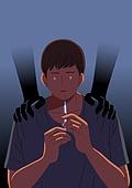 마약, 중독, 남성 (성별), 주사기, 주사, 사람손 (주요신체부분)