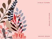 오버레이, 꽃, 백그라운드, 식물, 플랫디자인 (이미지)