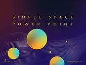 파워포인트, 메인페이지, 우주 (자연현상), 단순 (컨셉), 그라데이션, 원형 (이차원모양)
