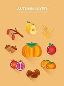 벡터 (일러스트), 아이콘, 플랫아이콘, 가을, 채소, 박과 (채소)