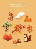 벡터 (일러스트), 아이콘, 플랫아이콘, 가을, 다람쥐, 도토리