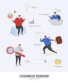 일러스트, 벡터 (일러스트), 비즈니스, 사무실 (업무현장), 기업, 회의, 아이디어, 직장인, 서류가방, 그래프, 프레젠테이션