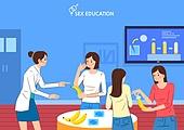 일러스트, 성교육, 성폭력, 성폭력 (성적학대), 교육 (주제), 교육 (주제) 가르치는 (움직이는활동)