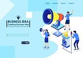 일러스트, 비즈니스, 사업관계 (비즈니스), 비즈니스맨 (사업가), 비즈니스미팅, 금융가 (구역), 아이디어, 마케팅