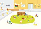 책, 읽기 (응시), 풍경 (컨셉), 여러명[10이상] (사람들), 휴식, 도서관