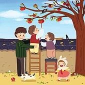 추석 (명절), 명절 (한국문화), 전통문화 (주제), 가족, 함께함 (컨셉), 감나무