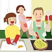 추석 (명절), 명절 (한국문화), 전통문화 (주제), 가족, 함께함 (컨셉), 주방 (건설물), 설거지 (씻기), 요리 (음식상태)