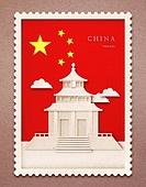 종이 (재료), 페이퍼아트, 국기, 랜드마크, 우표, 프레임, 우편엽서 (편지), 중국 (동아시아)
