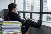 한국인, 사무실 (업무현장), 걱정 (어두운표정), 고역 (컨셉), 스트레스 (컨셉), 번아웃증후군 (격언), 스트레스