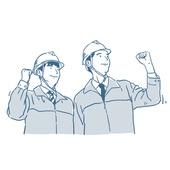 일러스트, 건설현장 (인조공간), 건설근로자, 건설근로자 (노동자), 안전모, 건축, 건축가, 설계도 (플랜)