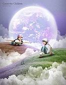 그래픽이미지, 합성, 환상 (컨셉), 꿈같은 (컨셉), 희망, 어린이 (인간의나이), 상상력 (컨셉), 창의성 (컨셉), 스케이트보드