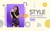 그래픽이미지, 편집디자인, 상업이벤트 (사건), 세일 (사건), 쇼핑 (상업활동), 기하학모양 (도형), 패턴, 패션, 여성, 바디라인 (날씬함)