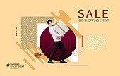 그래픽이미지, 편집디자인, 상업이벤트 (사건), 세일 (사건), 쇼핑 (상업활동), 기하학모양 (도형), 패턴, 패션, 선물 (인조물건), 남성
