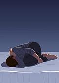 히키코모리, 어두움 (색상강도), 게으름 (컨셉), 청년 (성인), 방