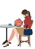가을, 쇼핑 (상업활동), 여성 (성별), 라이프스타일, 싱글라이프 (주제), 꽃다발
