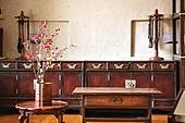 오브젝트 (묘사), 전통문화 (주제), 한국 (동아시아), 한국문화, 전통문화, 한옥, 나무, 꽃, 식물, 책상, 테이블, 거울