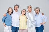 노인 (성인), 공동체 (컨셉), 미소, 즐거움 (컨셉)