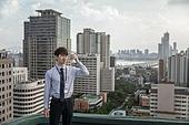 한국인, 비즈니스맨, 맥주, 차가운음료, 마시기, 쾌활한표정 (밝은표정)
