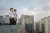 도시, 한국인, 비즈니스맨, 대화, 커뮤니케이션 (주제), 커뮤니케이션문제 (커뮤니케이션), 말하기 (커뮤니케이션컨셉), 결의, 결의 (컨셉)