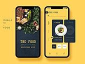 모바일템플릿 (웹모바일), 스마트폰, Graphical User Interface (Topic), 모바일앱, 음식, 주문
