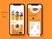 모바일템플릿 (웹모바일), 스마트폰, Graphical User Interface (Topic), 모바일앱, 음식, 주문, 배달