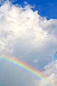 rainbow and the cloud abstract thailand kho tao bay of a  wet  in  south china sea