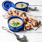 vegetarian soup with mushrooms