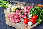juicy veal steaks