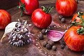 Summer harvest tomato and pepper