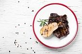 beef grilled steak. appetizing cut beef steak grill medium roast