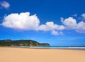 Rodiles Beach in Asturias of spain near villaviciosa river