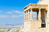 details of Erechtheion temple in Athenian Acropolis, Athens Greece. Erechtheion temple in Acropolis of Athens