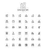 아이콘세트 (아이콘), 라인아이콘, 도시, 빌딩, 랜드마크, 여행