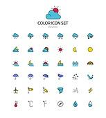 아이콘세트 (아이콘), 라인아이콘, 날씨, 기상, 기후