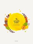 일러스트, 벡터 (일러스트), 가을, 팝업, 프레임, 단풍잎, 상업이벤트 (사건), 낙엽, 잎