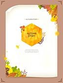 일러스트, 벡터 (일러스트), 가을, 팝업, 프레임, 단풍잎, 상업이벤트 (사건), 데코레이션, 은행잎