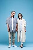 60-69세 (노인), 커플, 미소, 행복, 손잡기
