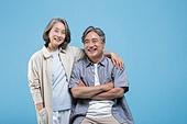 60-69세 (노인), 커플, 미소, 행복