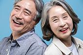 60-69세 (노인), 커플, 미소, 행복, 클로즈업