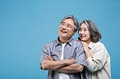 60-69세 (노인), 커플, 미소, 행복, 애정 (밝은표정)